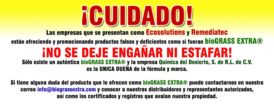 cuidado con Ecosolutions y Remediatec